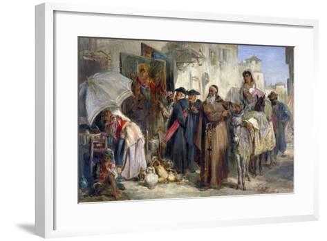 The Letter Writer, 1869-Keeley Halswelle-Framed Art Print