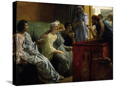 The Wine Shop, 1869-1874-Lawrence Alma-Tadema-Stretched Canvas Print