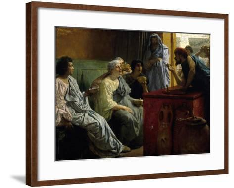The Wine Shop, 1869-1874-Lawrence Alma-Tadema-Framed Art Print