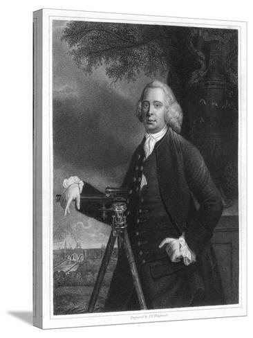 James Brindley, 18th Century English Civil Engineer and Canal Builder-JT Wedgwood-Stretched Canvas Print