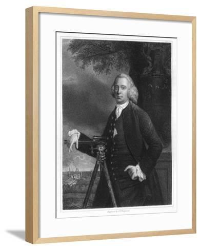 James Brindley, 18th Century English Civil Engineer and Canal Builder-JT Wedgwood-Framed Art Print