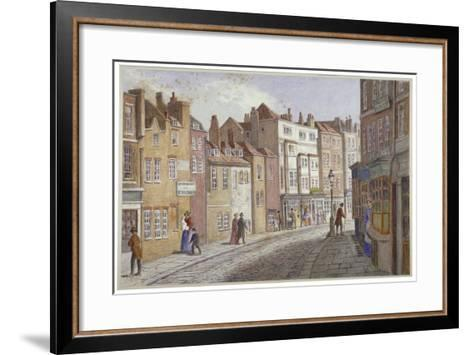 St Martin's Lane, Westminster, London, C1865-JT Wilson-Framed Art Print