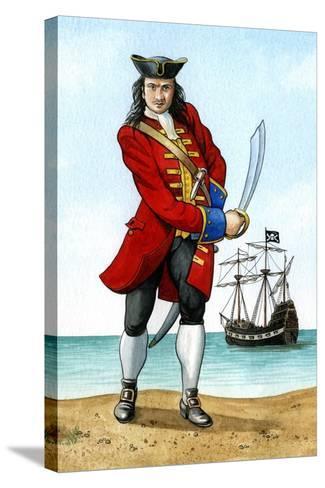 John 'Calico Jack' Rackham, (1680-172), English Pirate Captain-Karen Humpage-Stretched Canvas Print