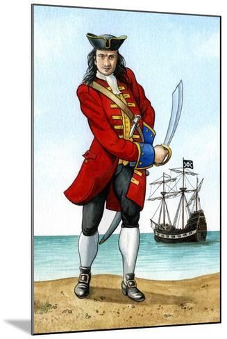 John 'Calico Jack' Rackham, (1680-172), English Pirate Captain-Karen Humpage-Mounted Giclee Print