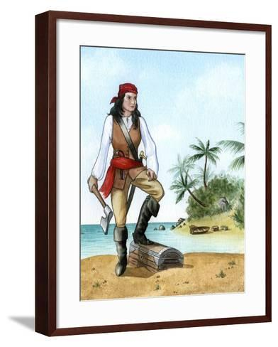 Mary Read, (1690-172), British Pirate's Mate-Karen Humpage-Framed Art Print