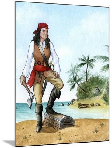 Mary Read, (1690-172), British Pirate's Mate-Karen Humpage-Mounted Giclee Print