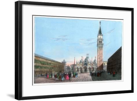St Mark's Square, Venice, Italy, 19th Century- Kirchmayr-Framed Art Print