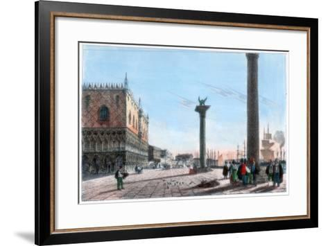 St Mark's Square, Venice, Italy, 19th Century- Kirchmayr-Framed Art Print