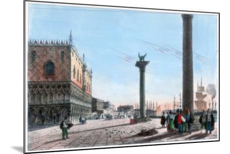 St Mark's Square, Venice, Italy, 19th Century- Kirchmayr-Mounted Giclee Print