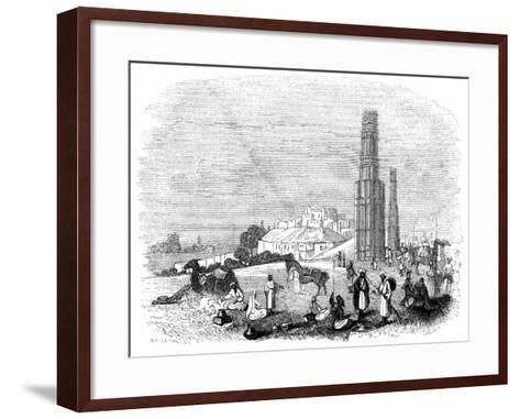 Fortress of Ghazni, with the Two Minars, India, 1847- Kirchner-Framed Art Print