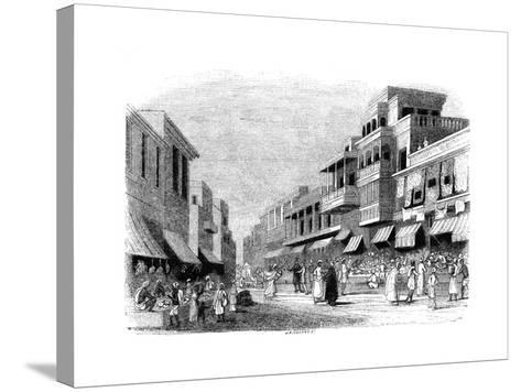 Bazaar in Bombay, India, 1847- Kirchner-Stretched Canvas Print
