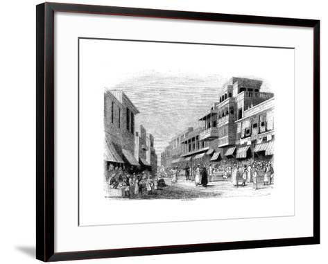 Bazaar in Bombay, India, 1847- Kirchner-Framed Art Print