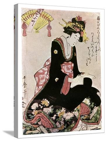 The Madonna of the Paper Stork-Kitagawa Utamaro-Stretched Canvas Print