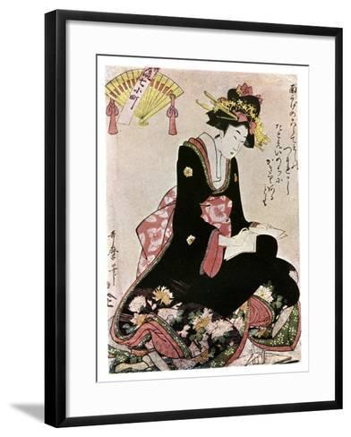The Madonna of the Paper Stork-Kitagawa Utamaro-Framed Art Print