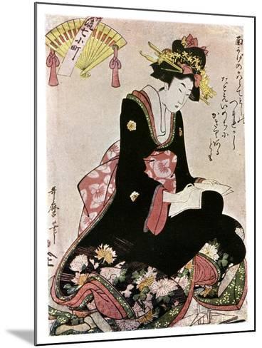 The Madonna of the Paper Stork-Kitagawa Utamaro-Mounted Giclee Print