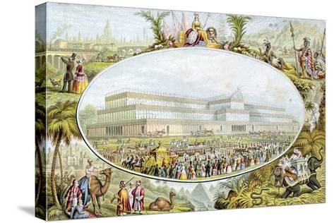 Queen Victoria Arriving to Open the Great Exhibition at the Crystal Palace, London, 1851-Le Blond-Stretched Canvas Print