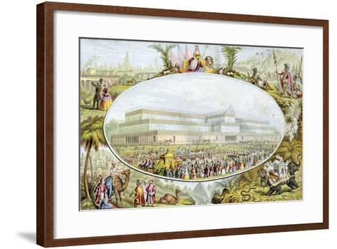 Queen Victoria Arriving to Open the Great Exhibition at the Crystal Palace, London, 1851-Le Blond-Framed Art Print