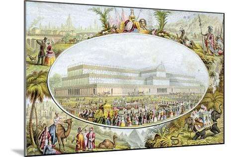 Queen Victoria Arriving to Open the Great Exhibition at the Crystal Palace, London, 1851-Le Blond-Mounted Giclee Print