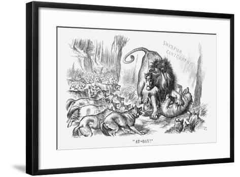 At-Bay, 1880-Joseph Swain-Framed Art Print