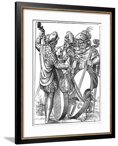 A Violinist and Two Cellists, 16th Century-Jost Amman-Framed Art Print