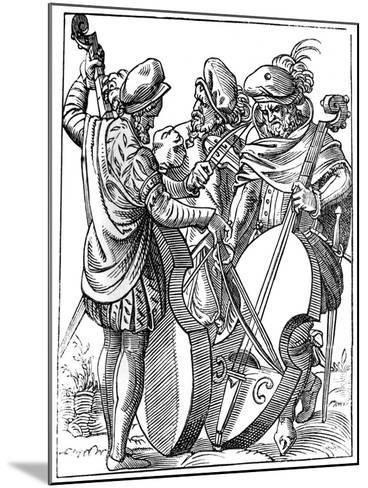 A Violinist and Two Cellists, 16th Century-Jost Amman-Mounted Giclee Print