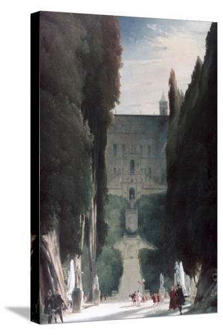 The Garden of the Villa D'Este, 1830-Karl Blechen-Stretched Canvas Print