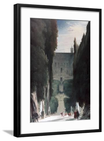 The Garden of the Villa D'Este, 1830-Karl Blechen-Framed Art Print
