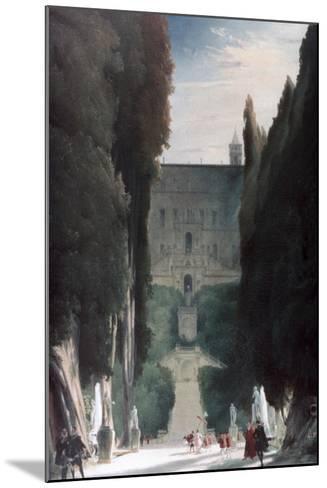 The Garden of the Villa D'Este, 1830-Karl Blechen-Mounted Giclee Print