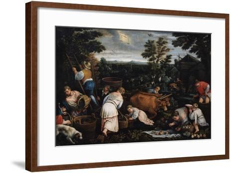 September (From the Series the Seasons), Late 16th or Early 17th Century-Leandro Bassano-Framed Art Print