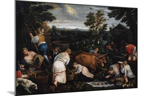 September (From the Series the Seasons), Late 16th or Early 17th Century-Leandro Bassano-Mounted Giclee Print