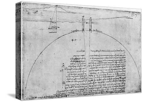 Method of Measuring the Surface of the Earth, Late 15th or Early 16th Century-Leonardo da Vinci-Stretched Canvas Print