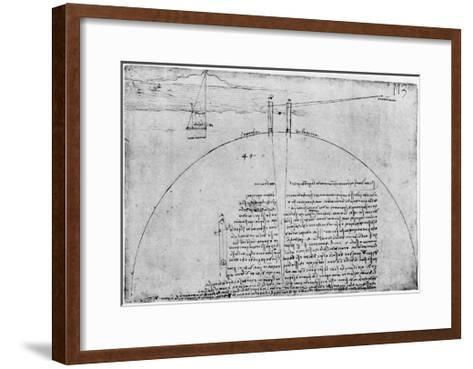 Method of Measuring the Surface of the Earth, Late 15th or Early 16th Century-Leonardo da Vinci-Framed Art Print