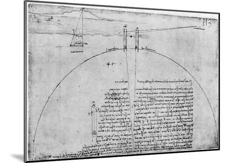 Method of Measuring the Surface of the Earth, Late 15th or Early 16th Century-Leonardo da Vinci-Mounted Giclee Print