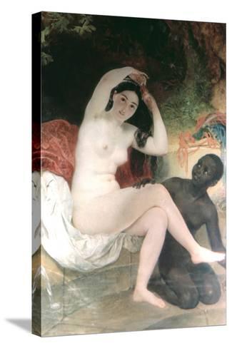 Female and David, 1832-Karl Briullov-Stretched Canvas Print