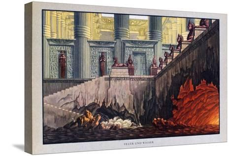 Fire and Water, the Magic Flute, 1816-Karl Friedrich Schinkel-Stretched Canvas Print