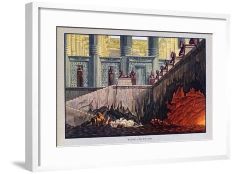 Fire and Water, the Magic Flute, 1816-Karl Friedrich Schinkel-Framed Art Print