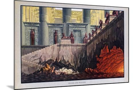 Fire and Water, the Magic Flute, 1816-Karl Friedrich Schinkel-Mounted Giclee Print