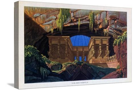 The Temple of Isis and Osiris from the Magic Flute, 1816-Karl Friedrich Schinkel-Stretched Canvas Print