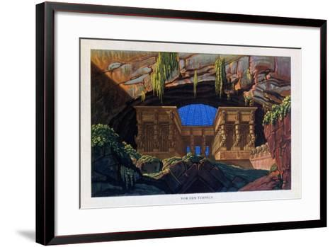 The Temple of Isis and Osiris from the Magic Flute, 1816-Karl Friedrich Schinkel-Framed Art Print