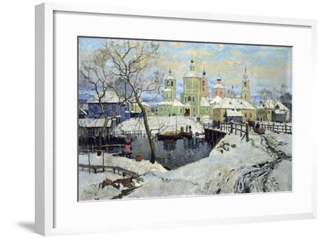 Small Village Torzhok, 1917-Konstantin Ivanovich Gorbatov-Framed Art Print