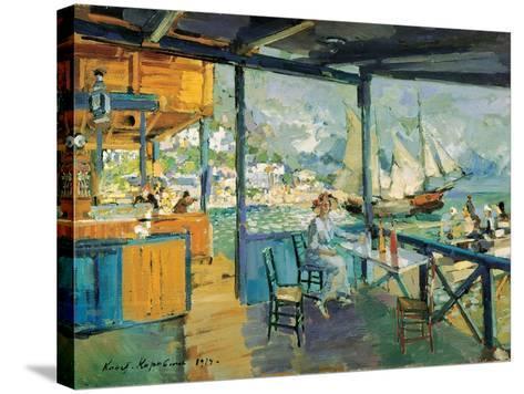 Pier in Gurzuf, 1914-Konstantin Korovin-Stretched Canvas Print