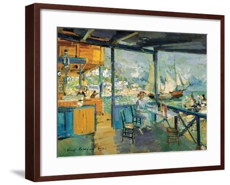 Pier in Gurzuf, 1914-Konstantin Korovin-Framed Art Print