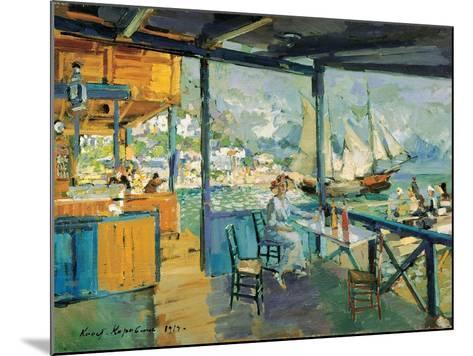 Pier in Gurzuf, 1914-Konstantin Korovin-Mounted Giclee Print