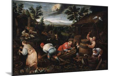 August' (From the Series 'The Seasons), Late 16th or Early 17th Century-Leandro Bassano-Mounted Giclee Print