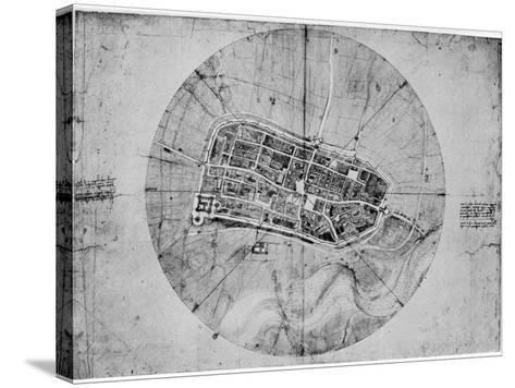 Plan of Imola, Italy, C1502-Leonardo da Vinci-Stretched Canvas Print