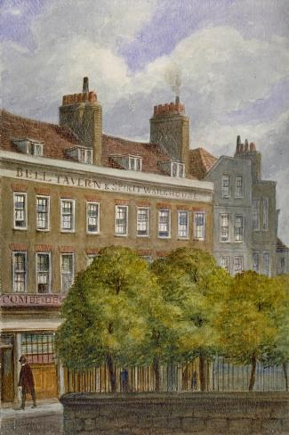 View of the Bell Tavern, Church Row, Aldgate, City of London, 1870-JT Wilson-Stretched Canvas Print