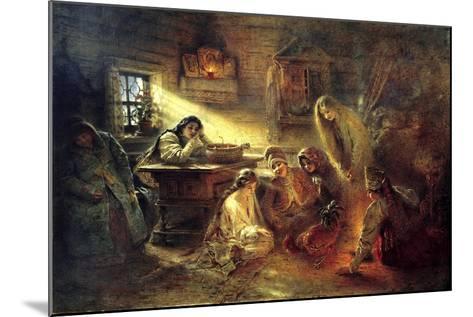 Christmas Eve Fortune Telling, 19th Century-Konstantin Makovsky-Mounted Giclee Print