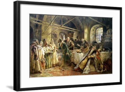 The Kiss Ceremony, 1895-Konstantin Makovsky-Framed Art Print