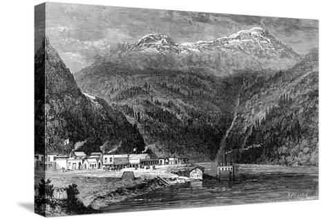 The Fraser River, British Columbia, Canada, 19th Century- Leitch-Stretched Canvas Print