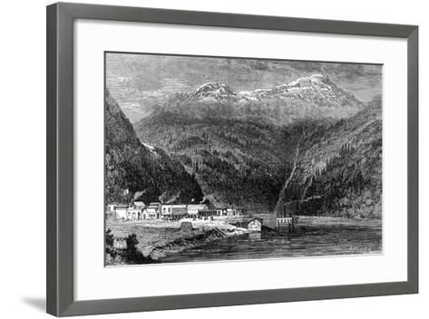 The Fraser River, British Columbia, Canada, 19th Century- Leitch-Framed Art Print